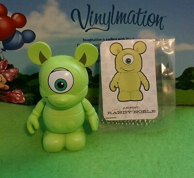 "DISNEY Vinylmation 3"" Park Set 2 Mike Wazowski From Monsters Inc with Card"