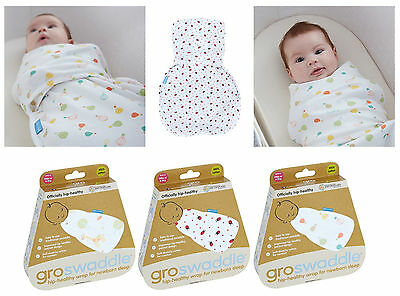 Grobag Baby Swaddle Hip- Healthy Swaddling Wrap x Newborn Baby Sleep 0-3m Cotton