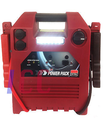 12V Car Battery Booster H Duty Portable Power Pack Compressor Pump Jump Starter