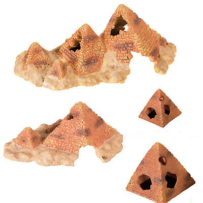 Reptile Pyramid Hide Cave Various Sizes Snakes Lizard Spiders