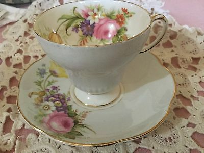 Eb Foley Bone China Pedestal Cup And Saucer England