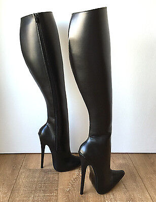 RTBU TALMA 18cm Stiletto Hard Shaft Knee Hi Vegan Boots Personalized Shaft