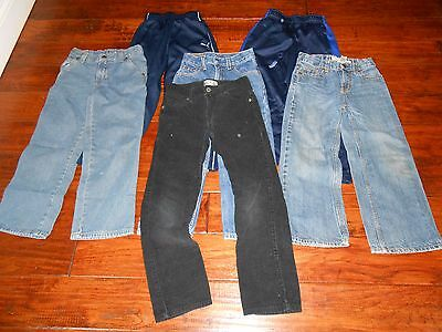 Lot of 6 Pairs Boys Cords/ Jeans/ Athletic Pants Size 7