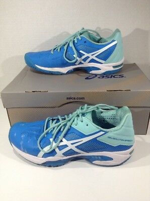 ASICS Womens Gel Solution Speed 3 Blue Running Athletic Shoes Size 8 ZL-1782