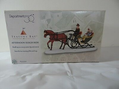 Department 56 Seasons Bay Afternoon Sleigh Ride Figurine 53322 Christmas Horse