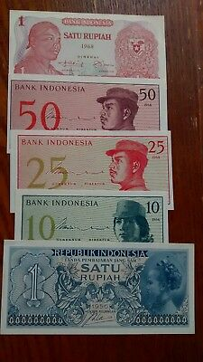 5- Indonesia Notes 1956 to 1968 , Unc.