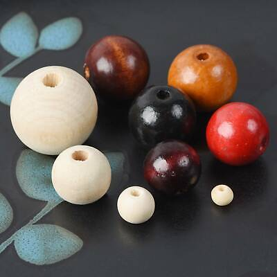 Wholesale 6/8/10/12/14/16/18/20/25mm Round Wood Spacer Wooden Loose Beads lot