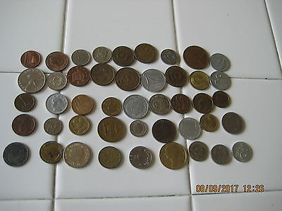 Forty Five Foreign Coins