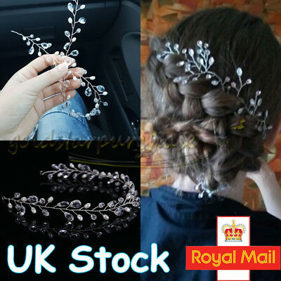 Wedding Hair Vine Pearl Crystal Bridal Bridesmaid Accessories Diamante Headpiece