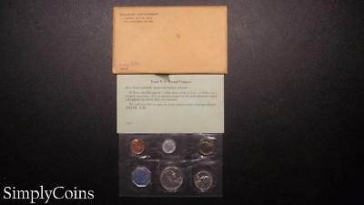 1960 Proof Set ~ Original Envelope With COA ~ US Mint Silver Coin Lot SKU-348
