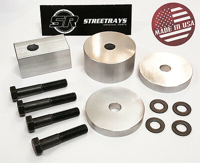 [SR] Billet Seat Spacers + Bolts FRONT Seat Recline FOR 07-17 Jeep JK JKU Silver