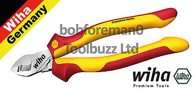 """WIHA 34744 VDE 1000V CABLE WIRE CUTTER / CUTTERS 200mm (8"""") DYNAMIC JOINT"""