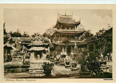 C-1910 Chinese Temple Singapore RPPC Real photo postcard 9642