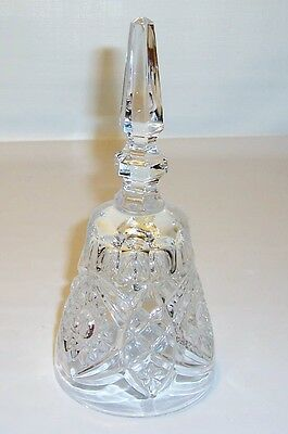 Solid Crystal Hand Bell with Crystal Clapper