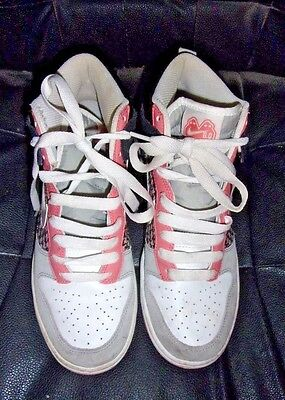Womens Nike Hi-Top Athletic Shoes sz 8.5 Pink,White, Black