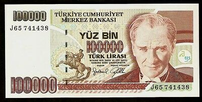 Turkey 100 000 Liras 1970 UNC