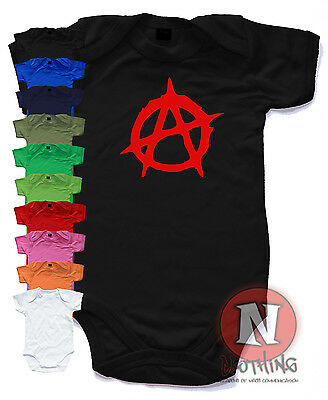 Anarchy Babygrow Baby Suit Great Gift cute vest Punk rock Sex Pistols Goth