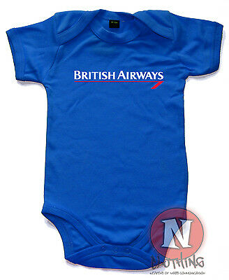 British Airways Babygrow Baby Suit Great Gift cute vest airline plane spotters