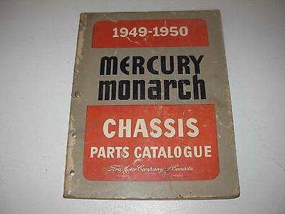 1949 - 1950 Mercury & Monarch Parts Manual , All Models