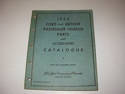 1952 Ford & Meteor Passenger Cars Parts Manual Catalog , all models