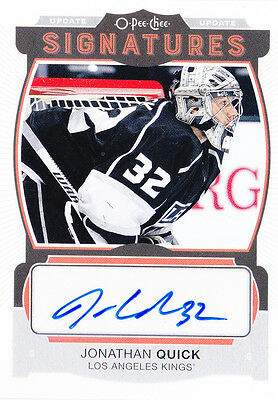 15-16 OPC Update Jonathan Quick Auto Signatures OPEECHEE LA Kings 2015