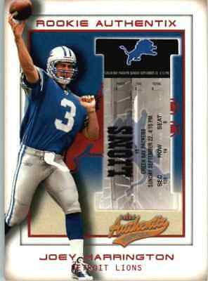 2002 Fleer Authentix Joey Harrington /1250 #102