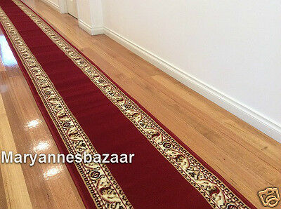 Hallway Runner Hall Runner Rug 5 Metres Long Traditional Red FREE DELIVERY