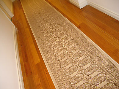 Hallway Runner Hall Runner Rug Traditional Persian Beige 4 Metres Long 909