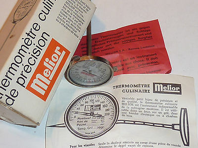 melior swiss THERMOMETRE à VIANDE FOUR Meat thermometer BRATENTHERMOMETER