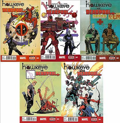 Hawkeye Vs Deadpool #0 1 2 3 4 (Complete) Marvel Versus