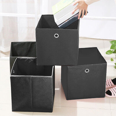 4er Set Faltbox in der Farbe 32 x 32 cm Faltkiste Regalkorb Regalbox Kinder