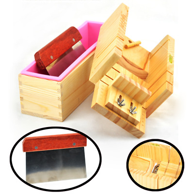 Silicone Soap Mold Wooden Box Toast Loaf Cake Maker Mould Cutting Slicer Cutter