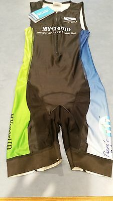 New With Tags Ventou Custom Mens Size M Kibby Medium Tri Suit Made in Australia