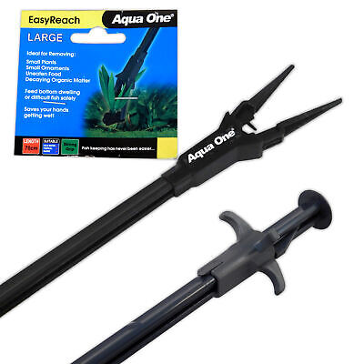 Aqua One EasyReach Aquarium Tongs 70cm long - Easy-to-Use Grabber Fish Tank