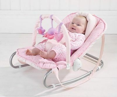 New Rosie Posy Love Heart Baby Bouncer / Bouncing Cradle / From Birth / Toy Bar