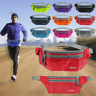 Running Hiking Bum Bag Travel Sport Handy Fanny Pack Waist Belt Zip Pouch Bumbag