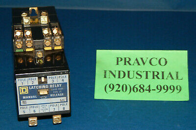Square D 8501-LL Latching Relay with 8501-L030LL Control Relay 8501LL 8501L030LL