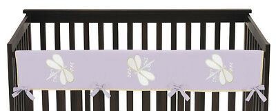 Jojo Purple Dragonfly Front Rail Guard Crib Cover Baby Teething Protector Wrap