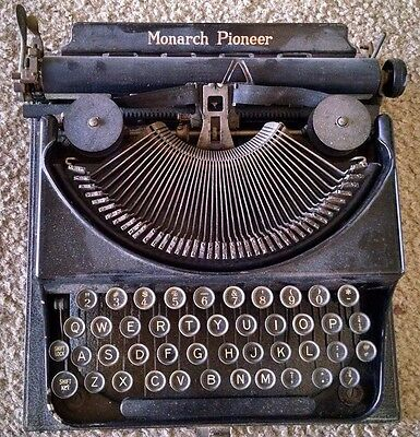 Monarch Pioneer Vintage Typewriter From The 1930's Serial No.# S61335