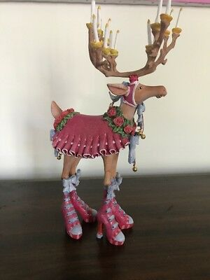 "LG table top 12"" Dash Away Reindeer- Donna Figure- Patience Brewster Krinkles"