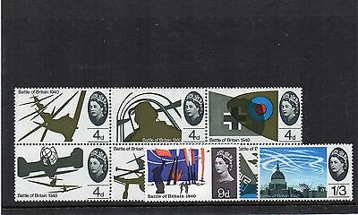 GB 1965 BATTLE of BRITAIN Stamps SET 8v UNMOUNTED MINT  Ref:X727