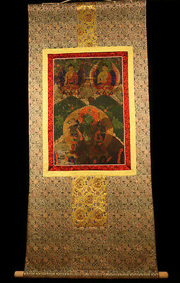"@19/20th Century Old Antique Tibet Tibetan Buddhism Thangka Tangka ""Green Tara""@"