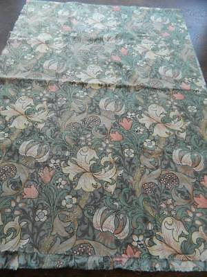 "Vintage cotton curtain fabric SANDERSON William Morris Golden Lily Minor 20""x 58"