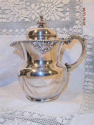 Derby Silver Co. Quadruple Plate Syrup 1185 Beaded Floral Silver Plate Creamer