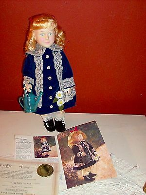 NIB Vintage AUTHENTIC Effanbee: Renoir Girl With A Watering Can Doll Certificate