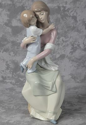 Vintage Lladro A Mother's Love Figurine Mother and Daughter Girl Child 6634 12""