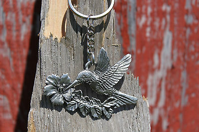 Hastings Pewter Lead Free Pewter Hummingbird Keychain gift key chain bird - NEW
