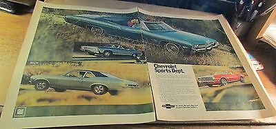 Old Automobile Ad[Orig.]-<1968>--CHEVROLET--<'68 SPORTS MODELS >- (2 Pages)