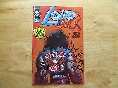 1992 Vintage Dc Lobo's Back # 1 Signed 2X Simon Bisley & Keith Giffen, With Poa