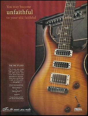 The 2011 PRS Studio electric guitar advertisement 8 x 11 ad print